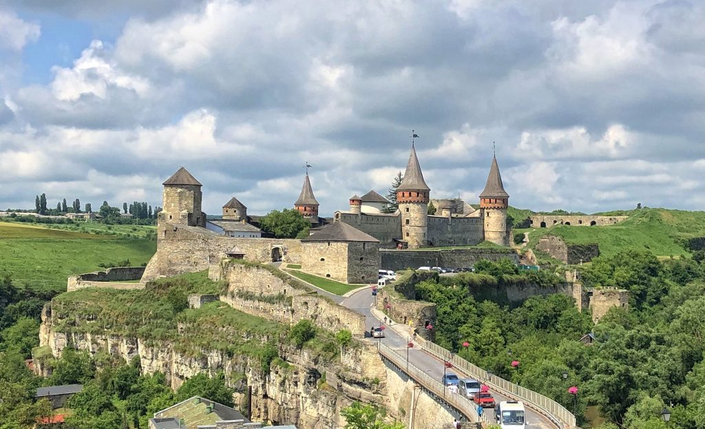 Старая крепость XIV века в Каменец-Подольске