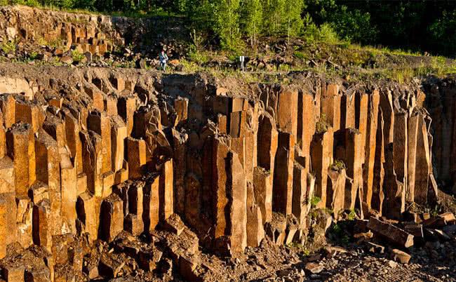 Базальтовы столбы в Ровенской области